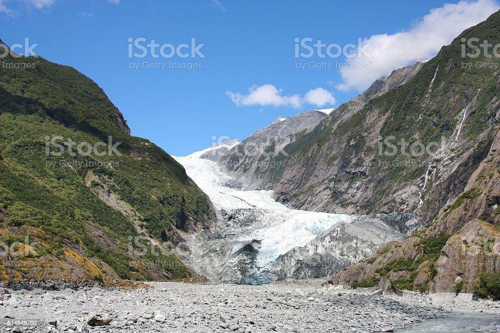 New Zealand glacier stock photo