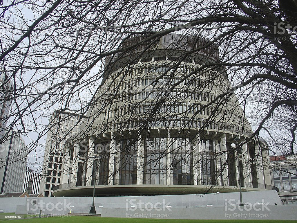 New Zealand Govenment Building royalty-free stock photo