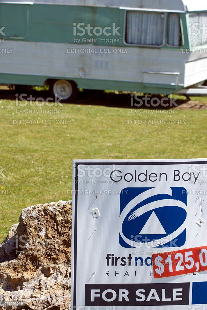 New Zealand Holiday Home Real Estate stock photo