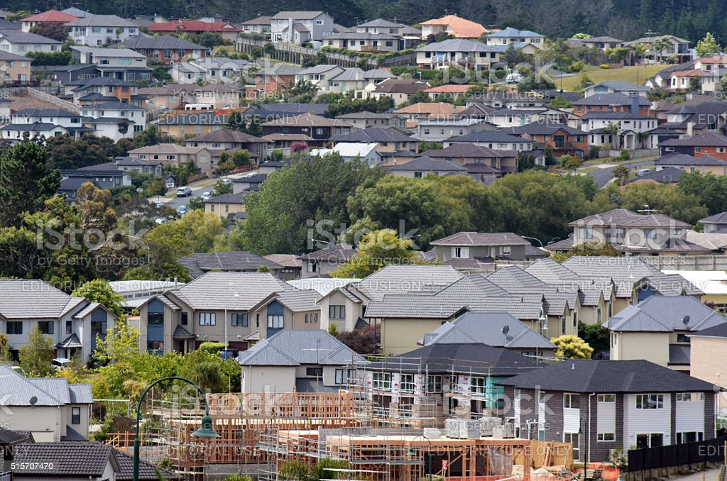 New Zealand Housing Property and Real Estate Market stock photo
