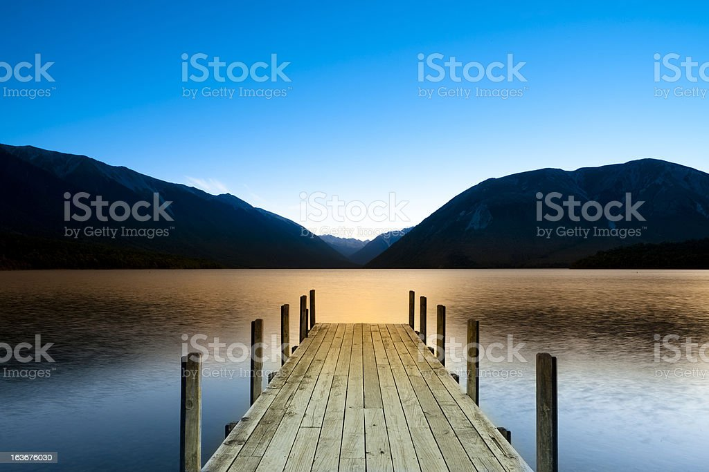 New zealand lake district stock photo