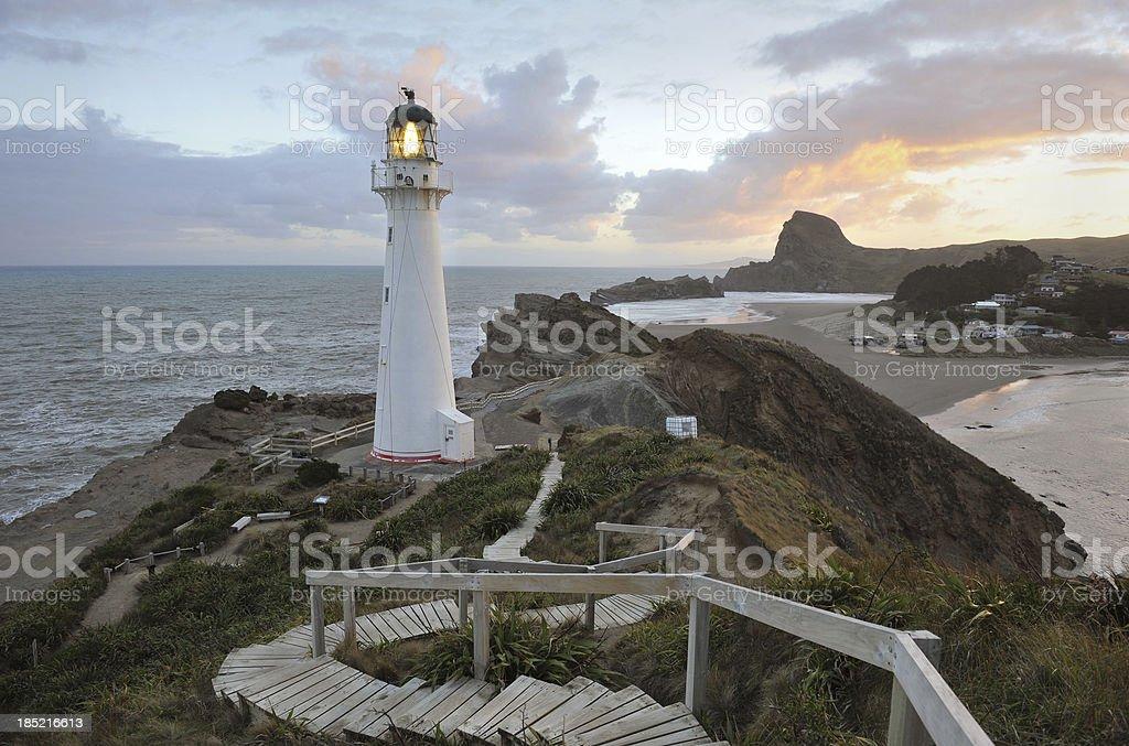 New Zealand Lighthouse stock photo