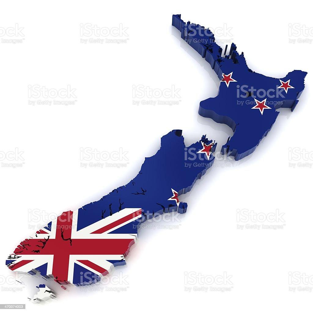 New Zealand Map stock photo