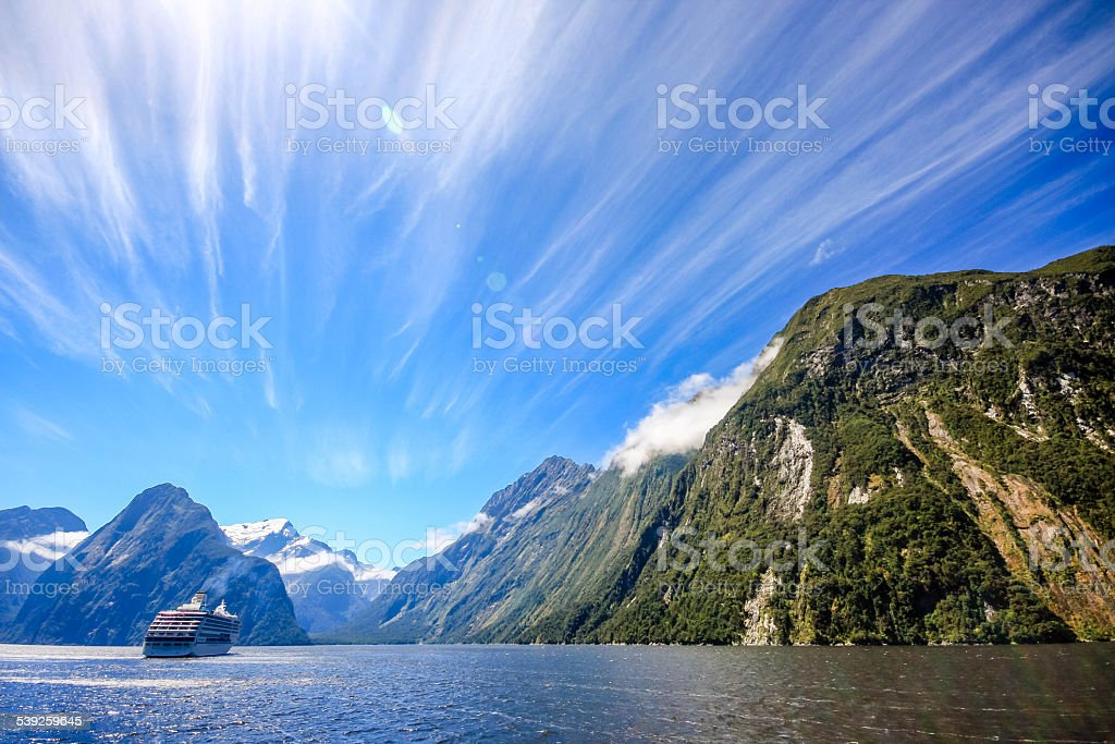 New Zealand - Milford Sound stock photo