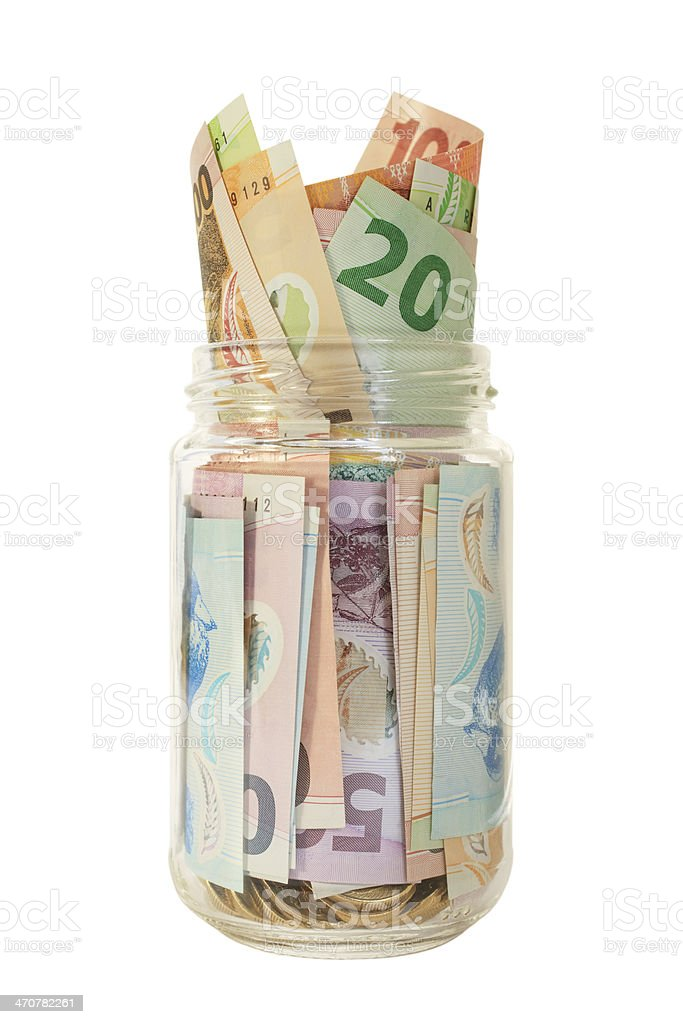 New Zealand Money Jar stock photo