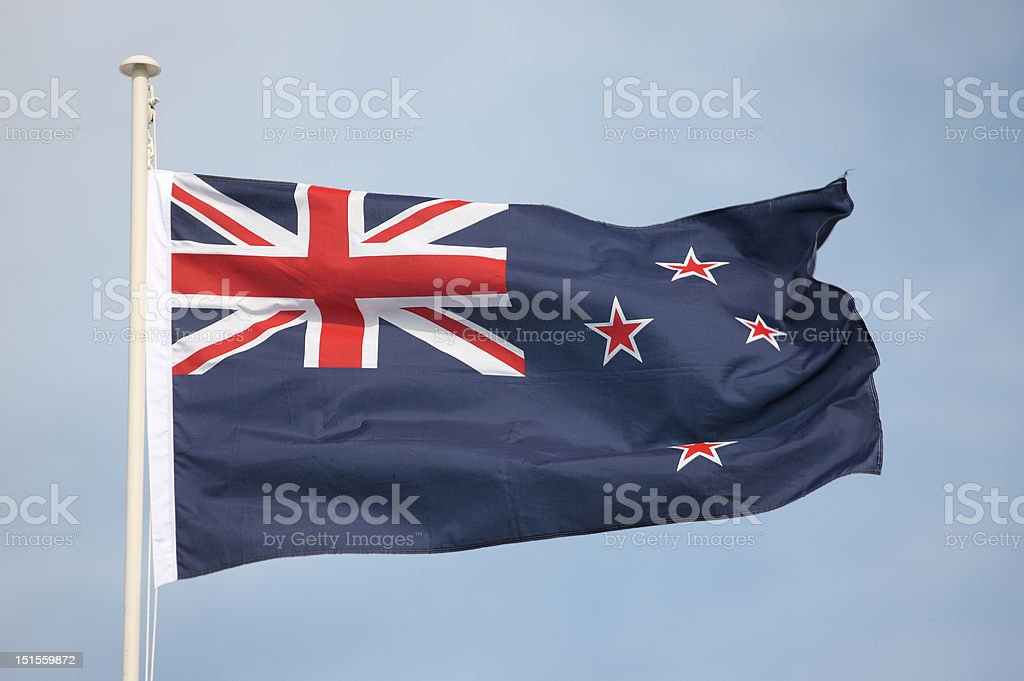 New Zealand National Flag royalty-free stock photo