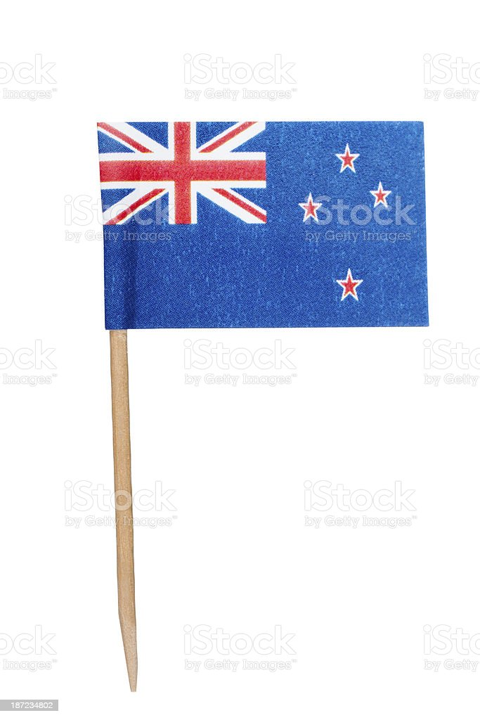 New Zealand paper flag stock photo
