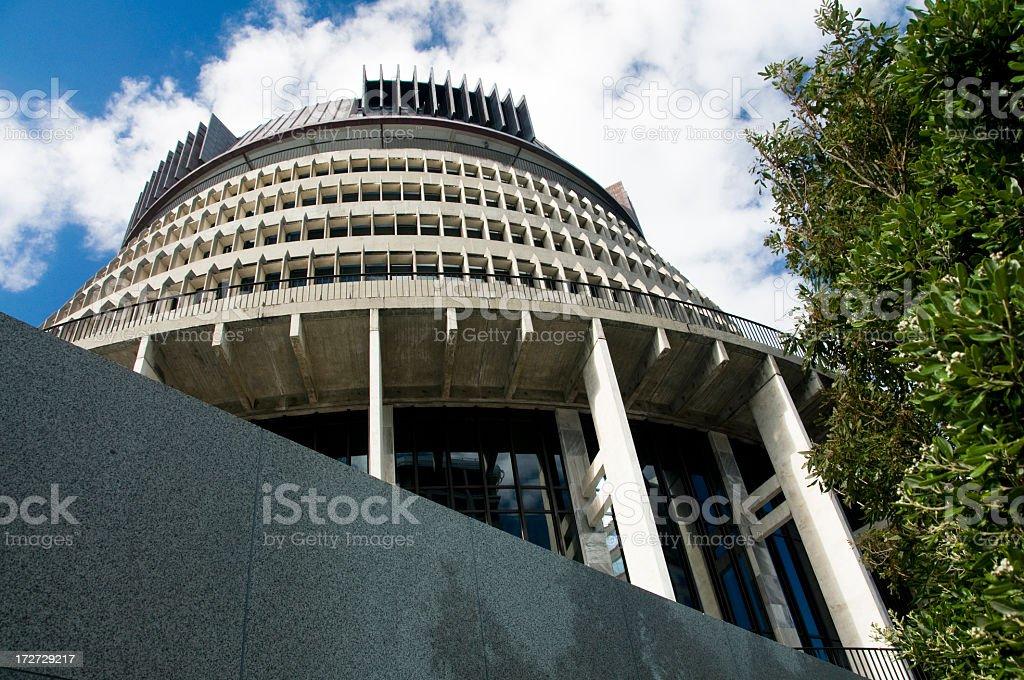 New Zealand Parliament royalty-free stock photo