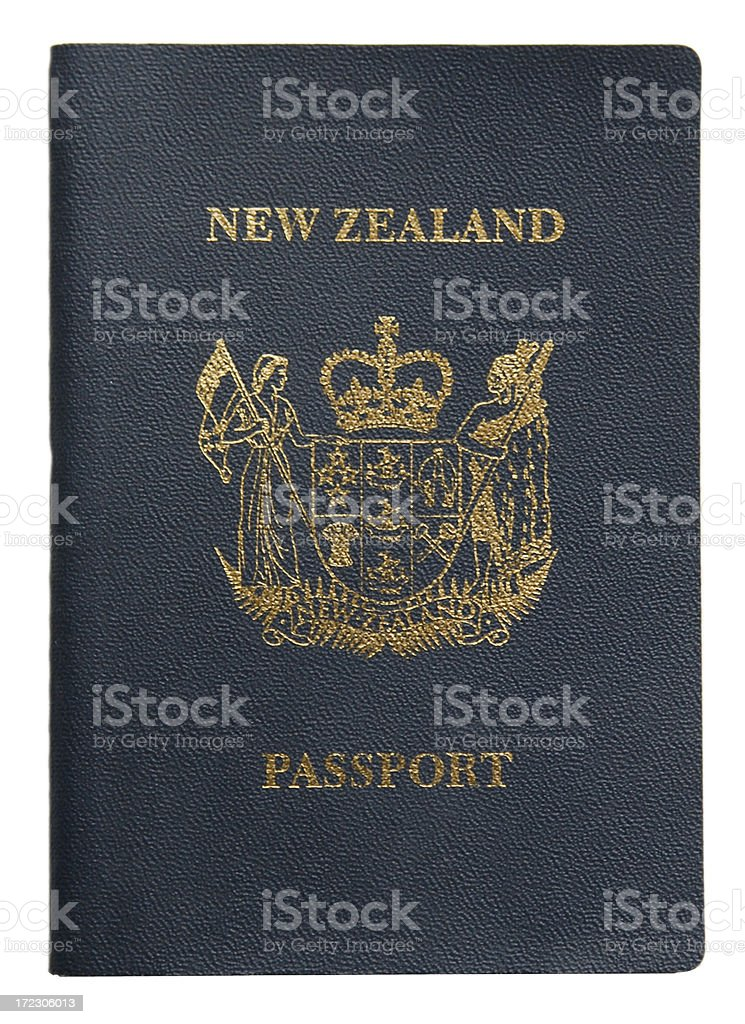 New Zealand Passport royalty-free stock photo