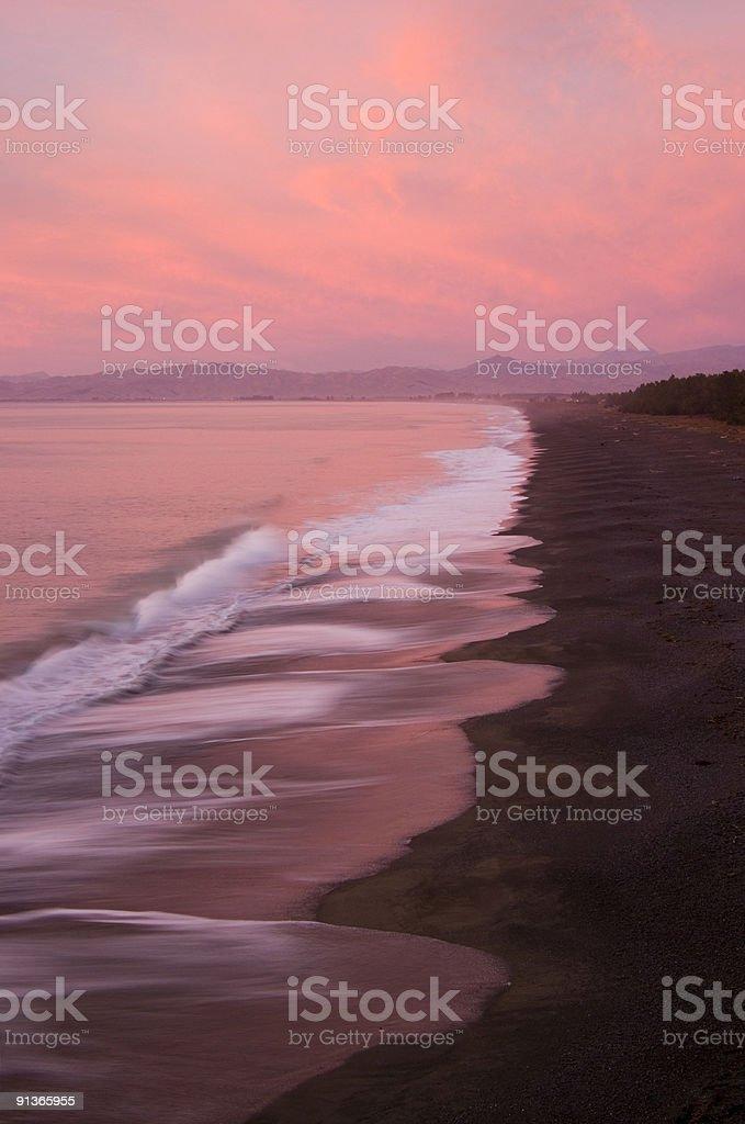 New Zealand Rarangi Beach royalty-free stock photo