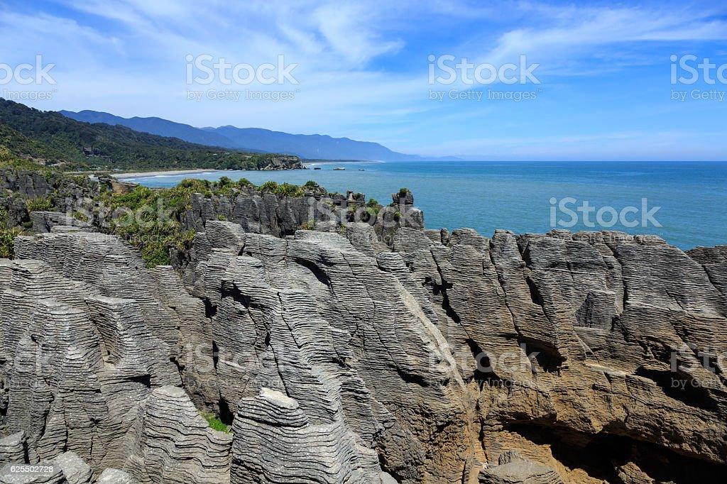 New Zealand, South Island Landscape Panorama, Paparoa National Park stock photo