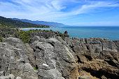 New Zealand, South Island Landscape Panorama, Paparoa National Park