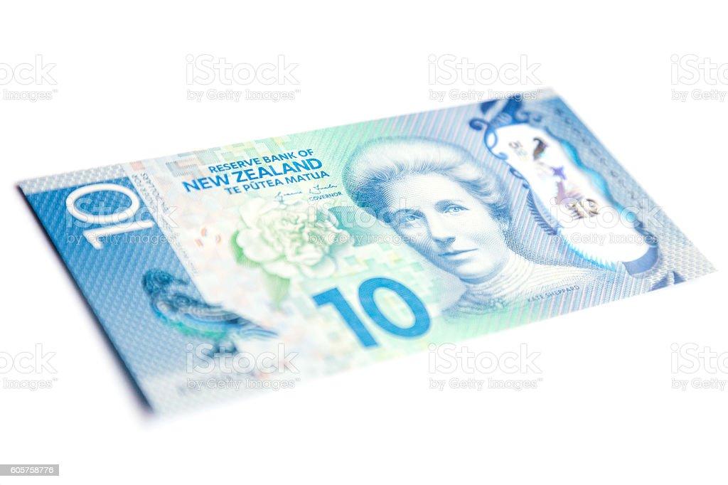 New Zealand Ten Dollar Bill - Front stock photo