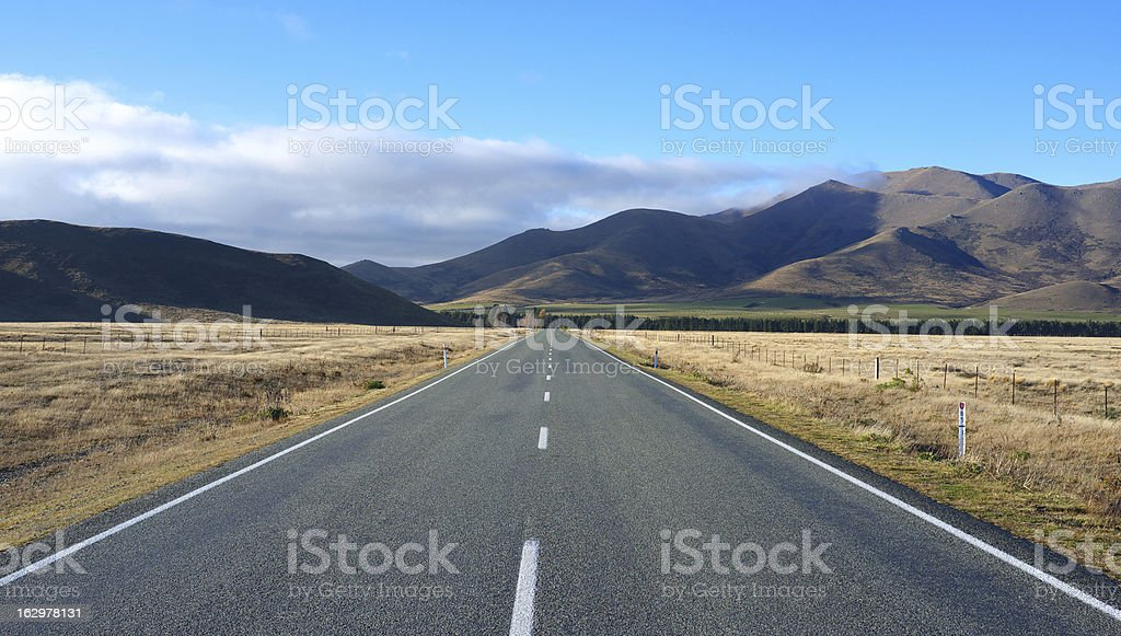 New Zealand's Canterbury Plains royalty-free stock photo