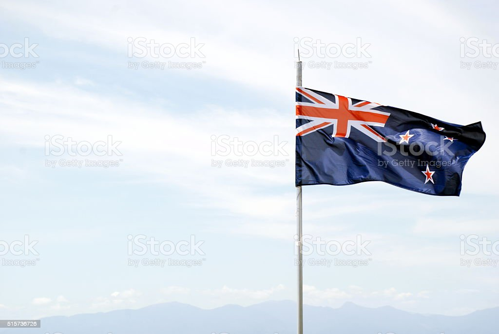 New Zealand's Flag stock photo