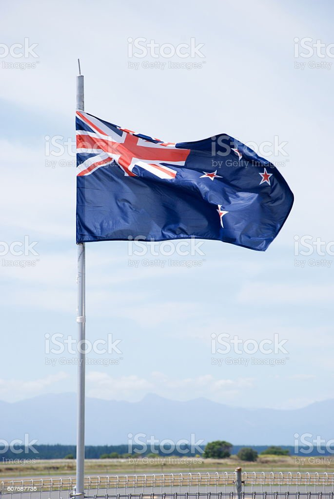 New Zealand's Flag stock photo