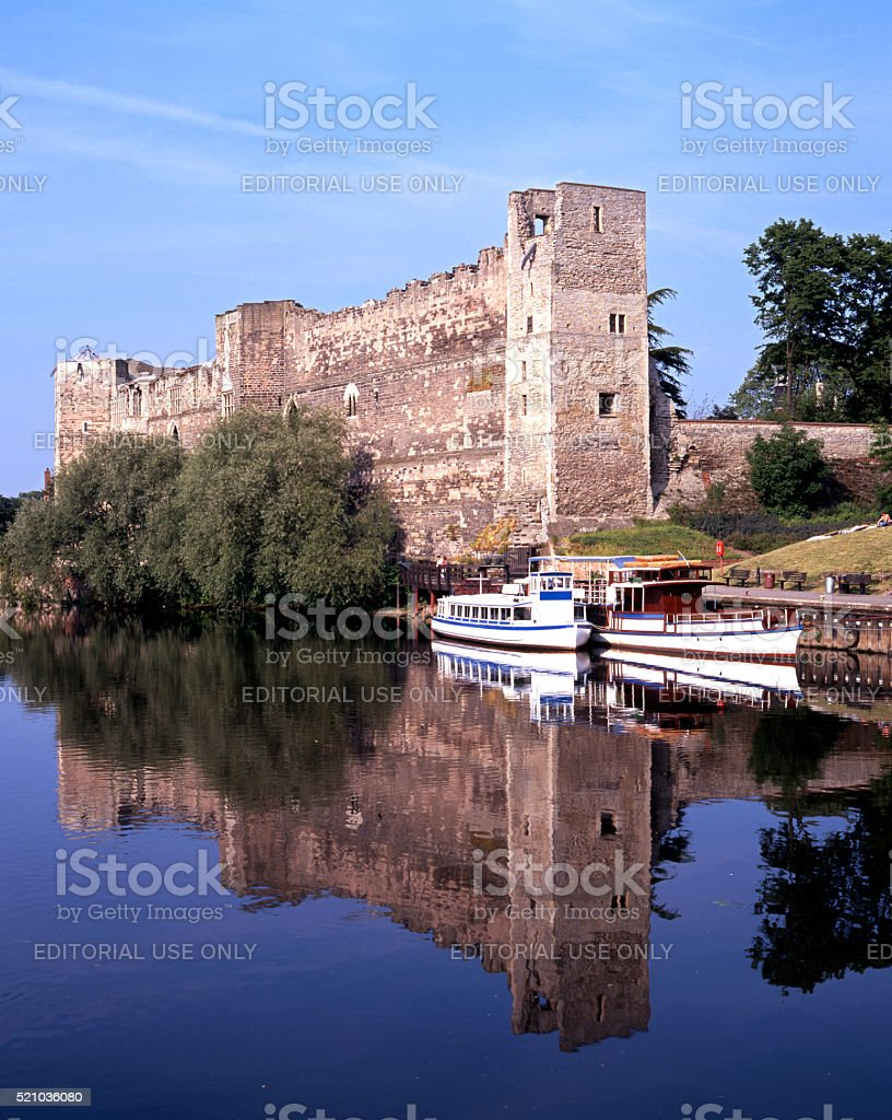 Newark Castle and River Trent. stock photo