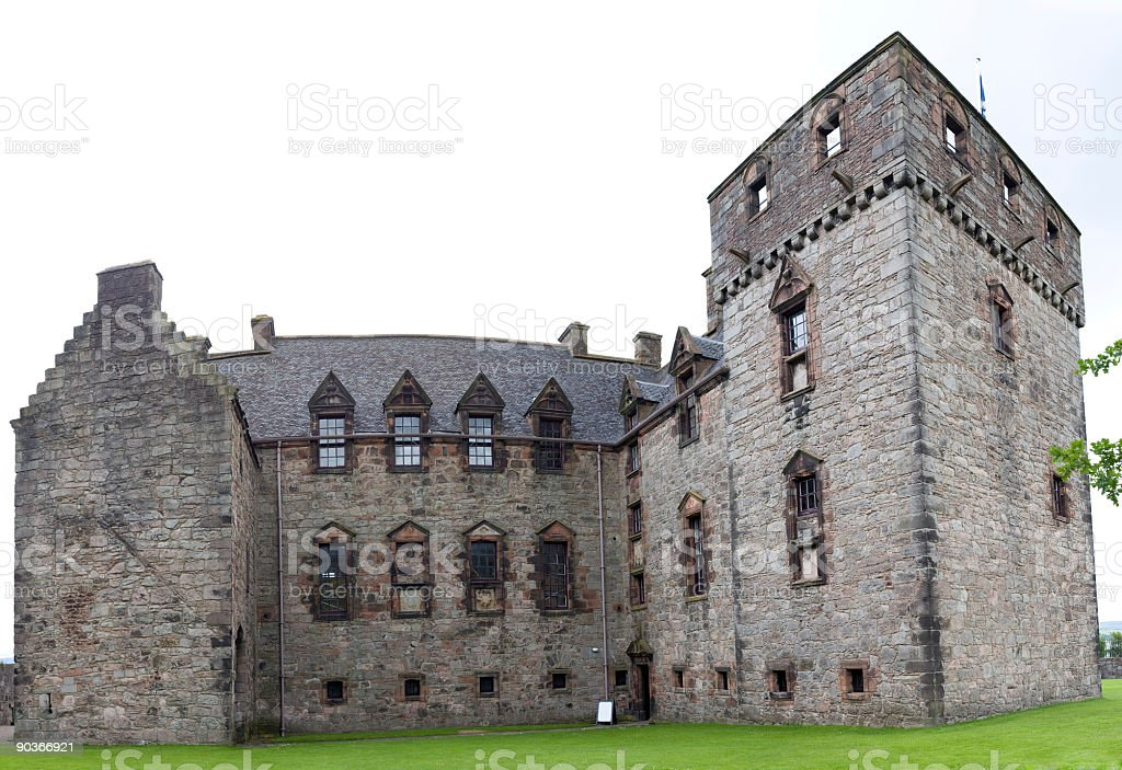Newark Castle - South Face royalty-free stock photo