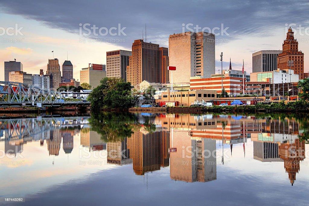 Newark, New Jersey Cityscape stock photo
