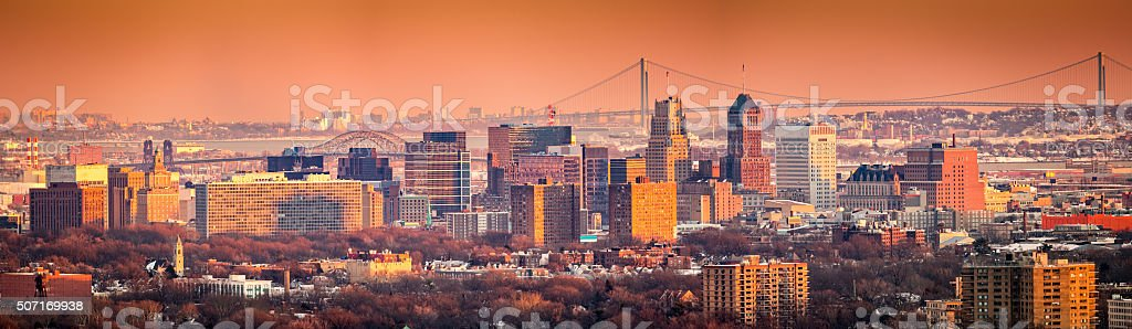 Newark New Jersey skyline stock photo