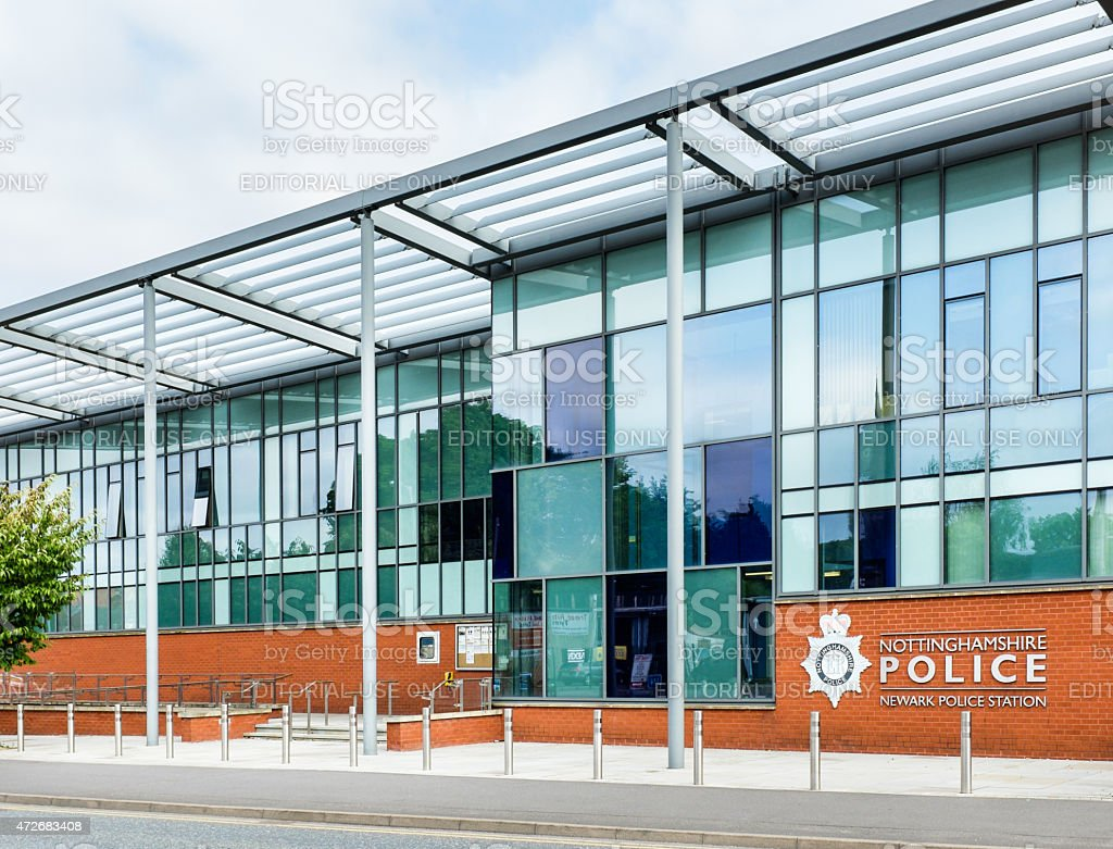 Newark Police station stock photo