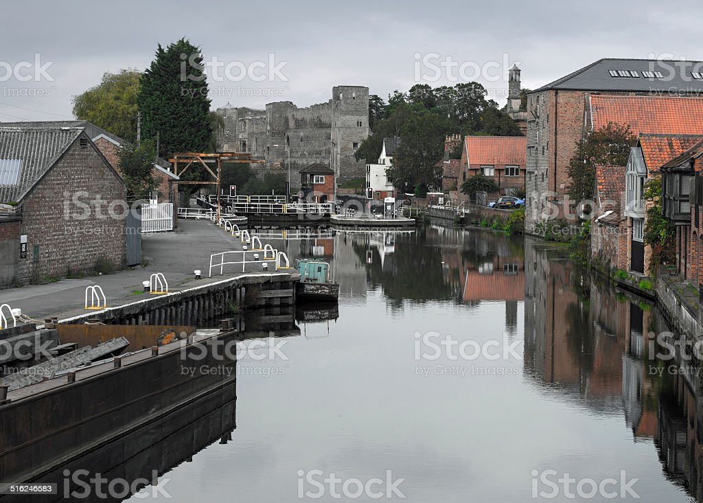 Newark-on-Trent Lock stock photo