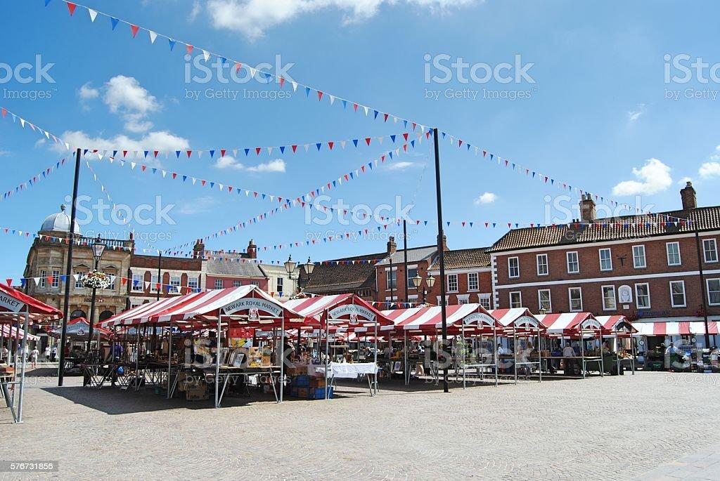 Newark-on-Trent Market stock photo