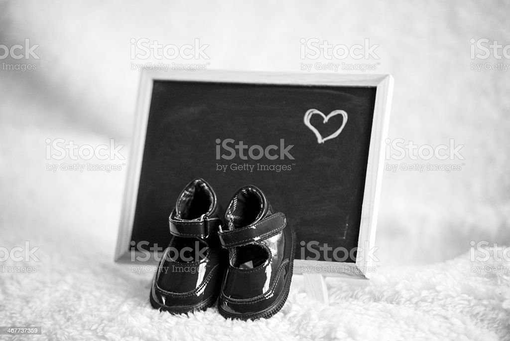 Newborn Announcment -it's a girl. stock photo