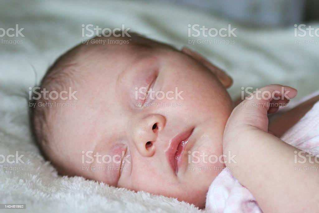 Newborn baby asleep royalty-free stock photo