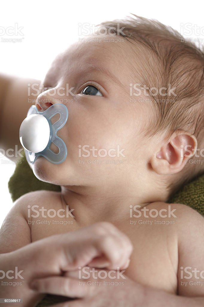 Newborn baby bonding with his mother stock photo