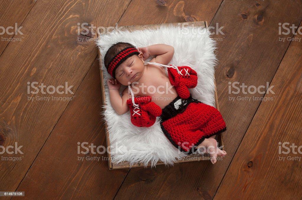Newborn Baby Boy Boxer stock photo