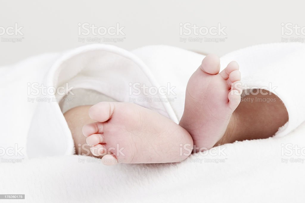 Newborn baby feet, close-up royalty-free stock photo