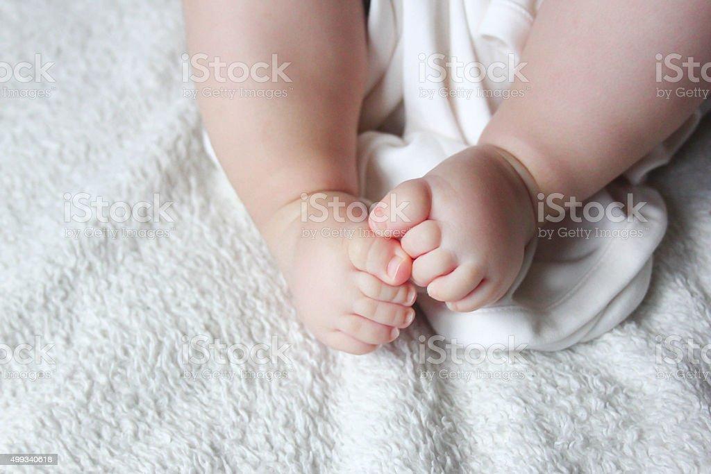 Newborn Baby Feet stock photo