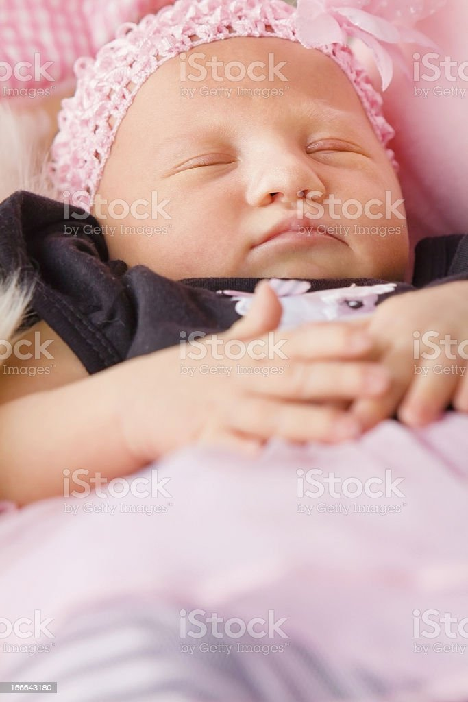 Newborn Baby Girl Sleeping royalty-free stock photo
