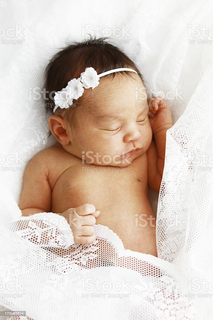 Newborn Baby Girl Sleeping royalty-free stock photo