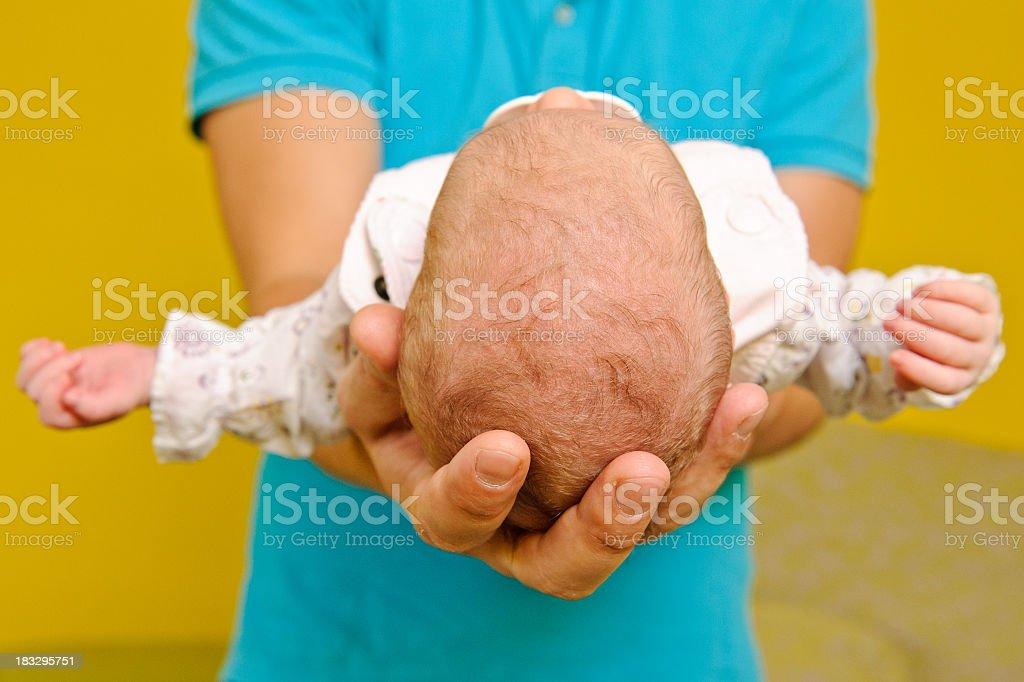 Newborn baby in the comfort royalty-free stock photo