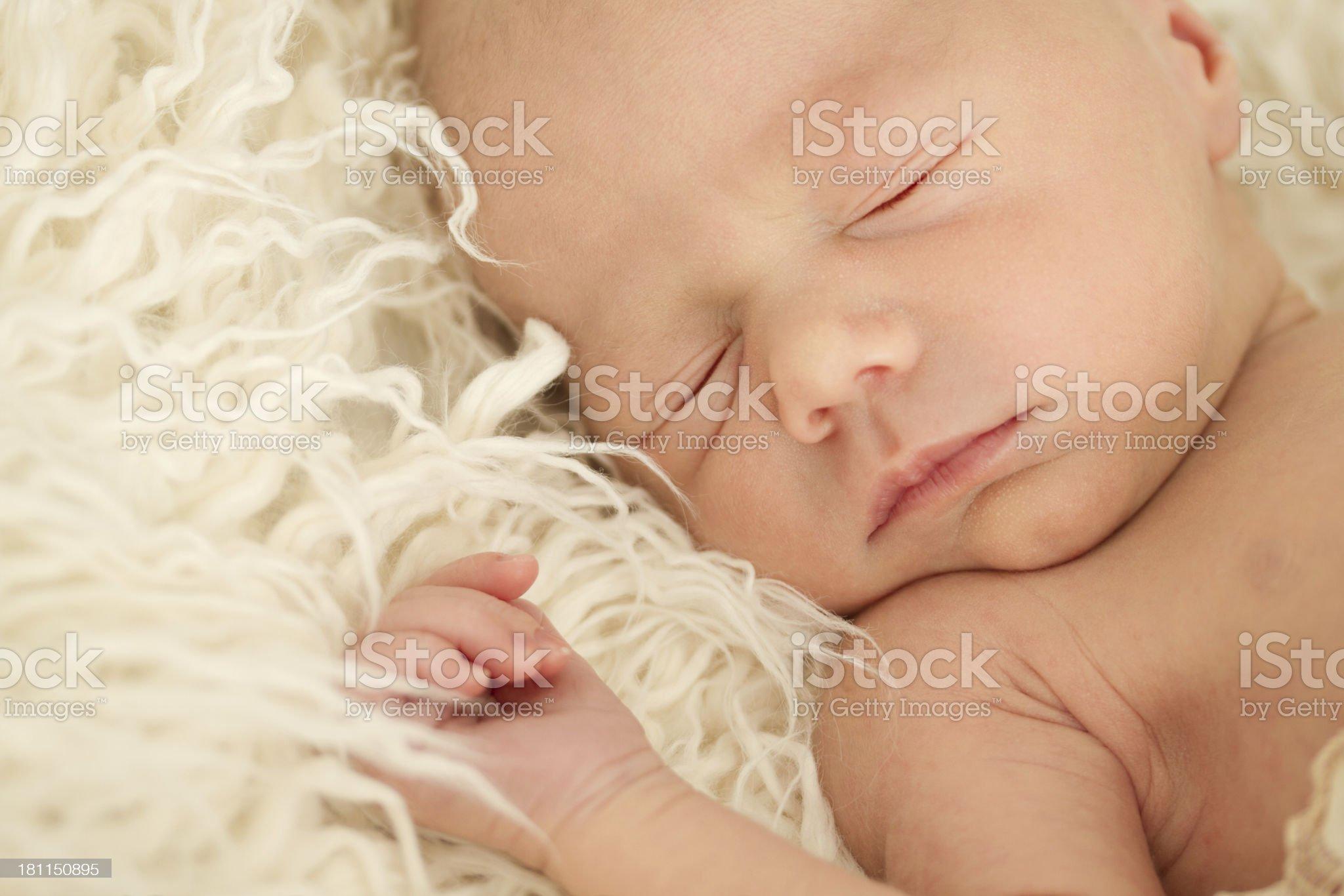 Newborn baby royalty-free stock photo