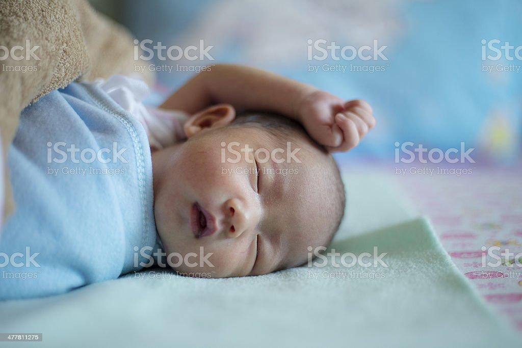 Newborn baby. stock photo