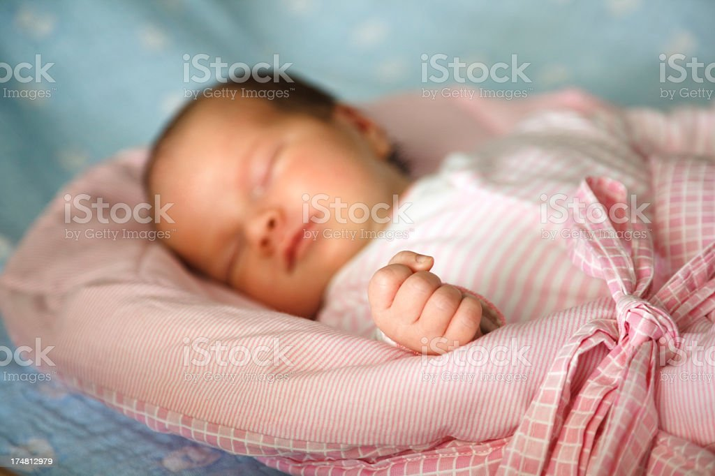 Newborn baby sleeping royalty-free stock photo