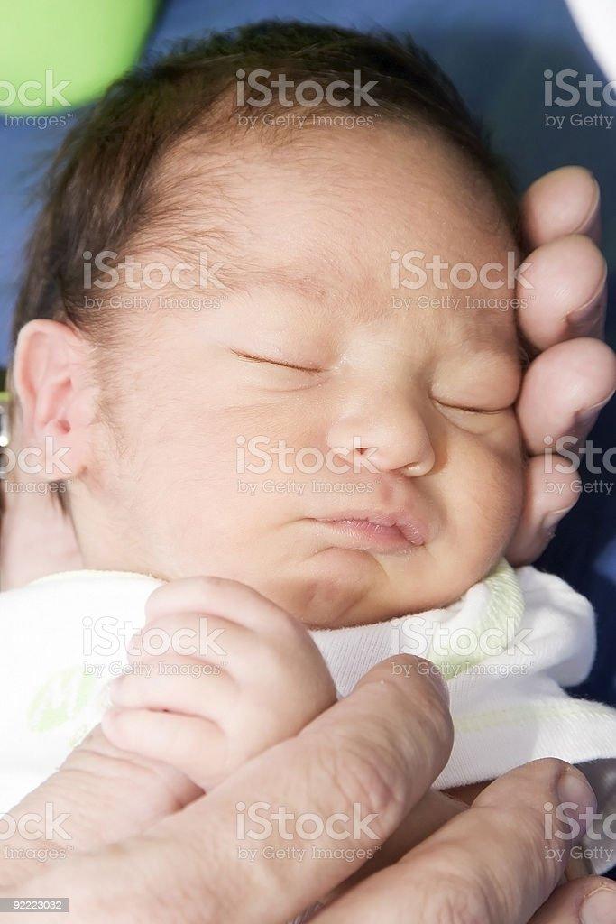 Newborn baby sleeping royalty-free stock photo