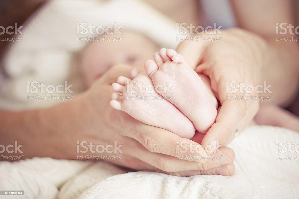 Newborn Baby's feet stock photo