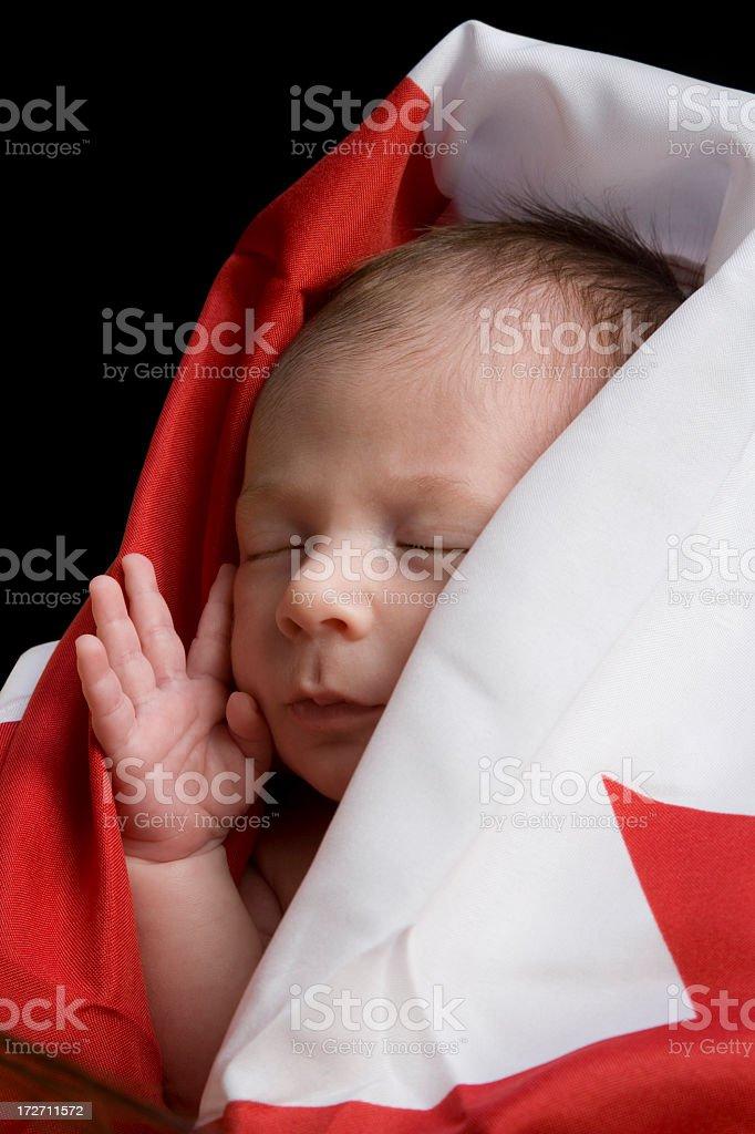 newborn Canadian royalty-free stock photo