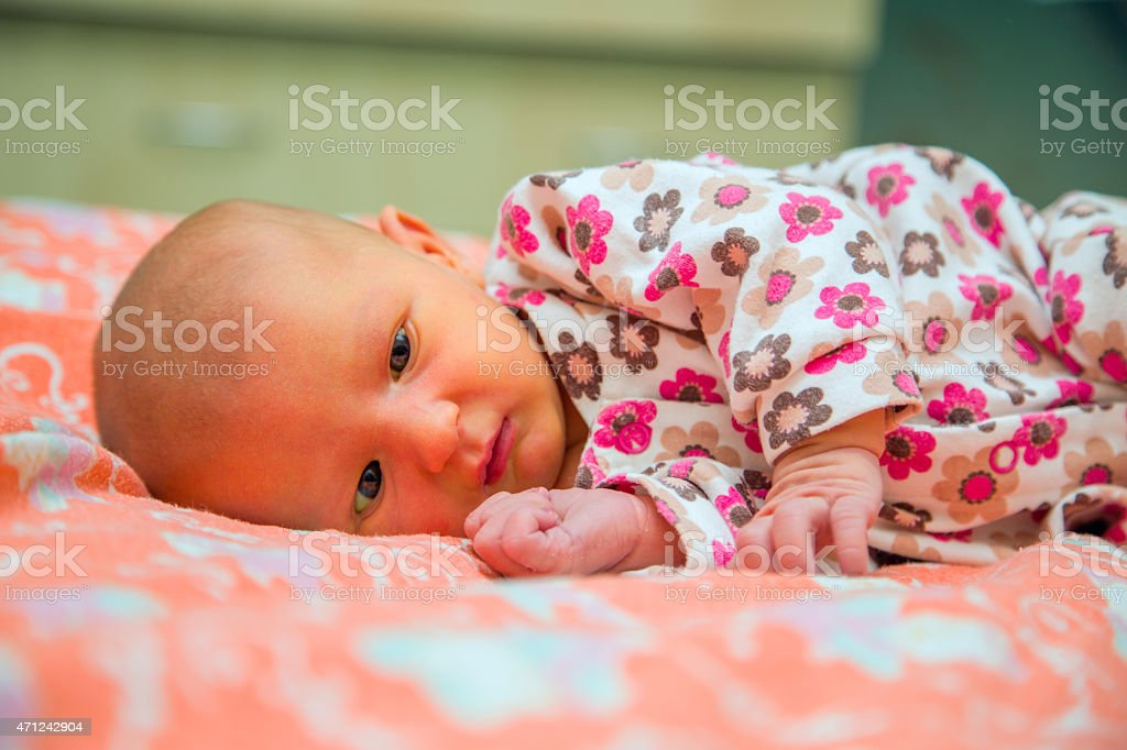 Newborn child stock photo