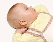 newborn european baby girl boy sleeping dreaming sweet 6 months