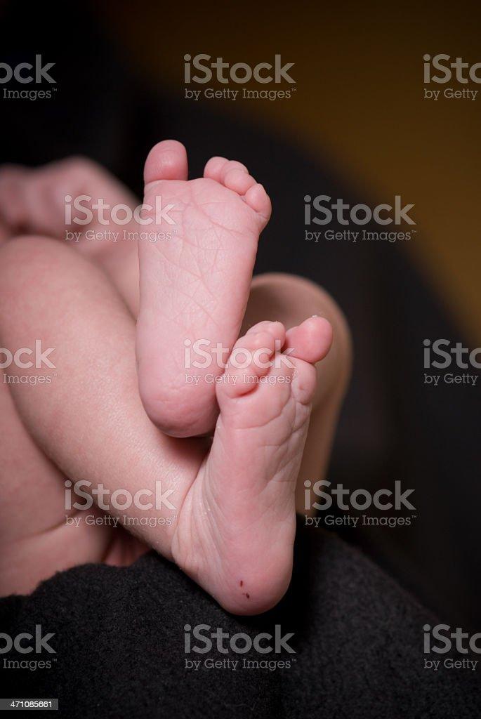 newborn feet royalty-free stock photo