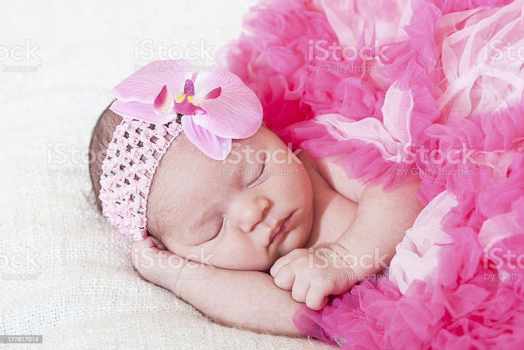 newborn girl royalty-free stock photo
