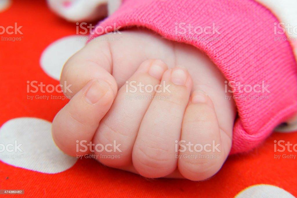 Newborn hand royalty-free stock photo