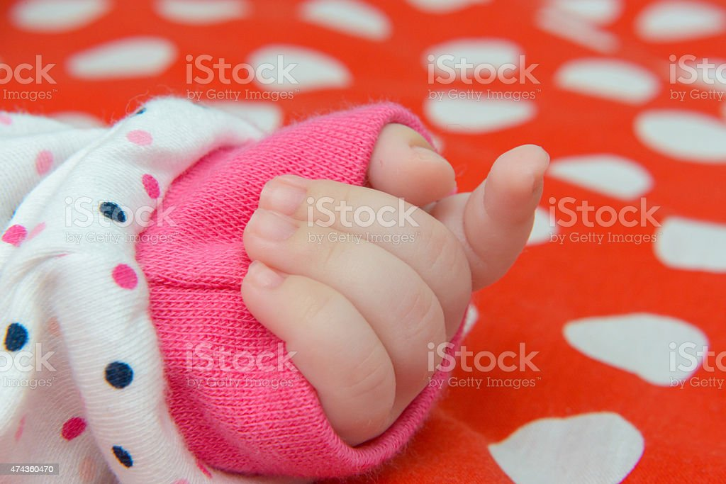 newborn hand royalty-free stock photo