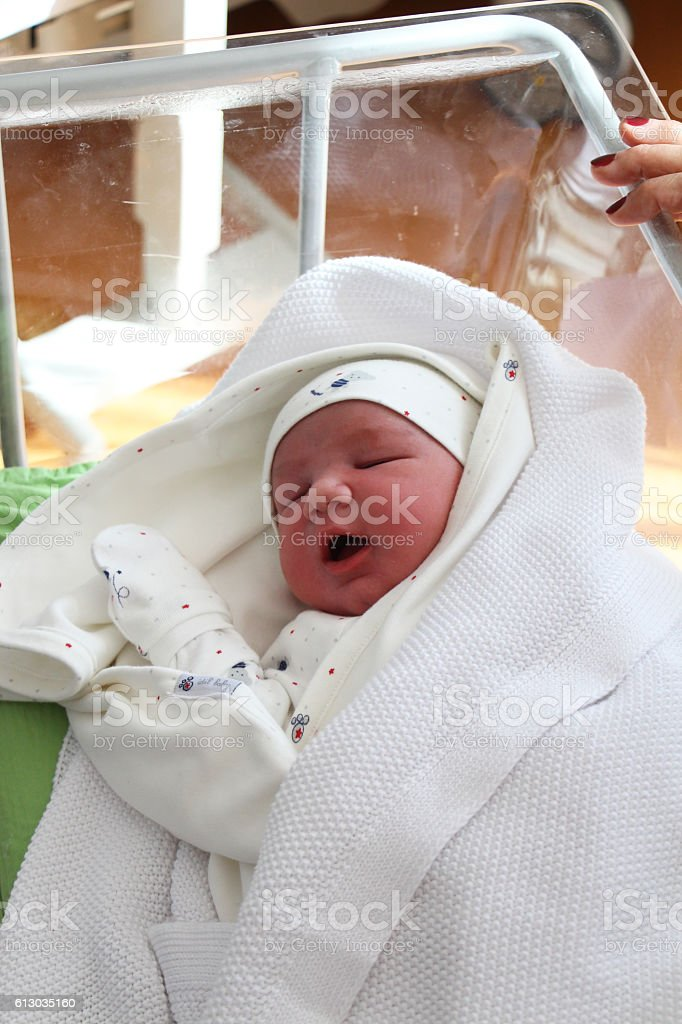 Newborn In Hospital stock photo