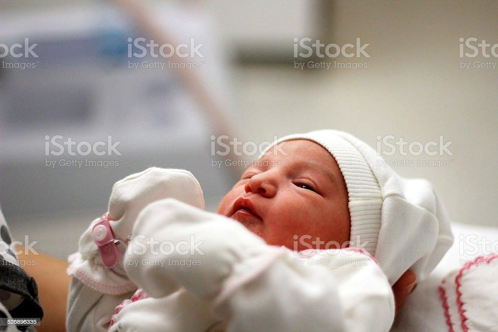 Newborn In Hospital Room stock photo
